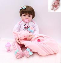 Bebe Reborn 48cm  100% Corpo de Silicone  Realista  Baby Fashion Pig - Boneca E Bebê Reborn