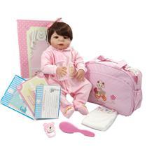 Bebê Reborn De Silicone Com Enxoval Completo Original NPK Exclusividade -