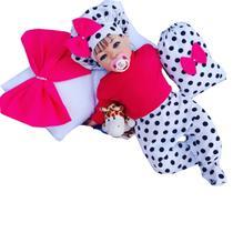 Bebê Reborn Larinha Poa com Rosa - Sid nyl