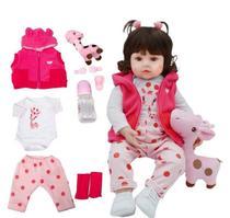 Bebê Reborn Menina Girafinha - 100% Silicone - Ot Toys