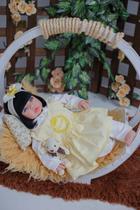 Bebê Reborn Menina Morena Larinha Enxoval Amarelo Princesa - Sonho De Criança