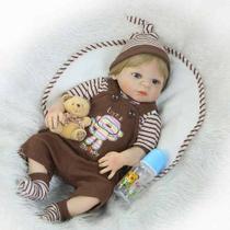 Bebê Reborn Menino Loiro Realista - Pronta Entrega -