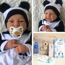 Bebê Reborn Menino Peso Bebê de Verdade e Bolsa Maternidade - Sonho De Criança