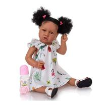 Bebê Reborn Negra 100% Silicone - Brastoy