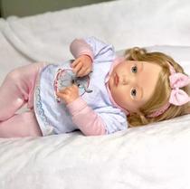 Bebe Reborn Realista Ana Clara mais Enxoval Completo - Kaydora Brinquedos -