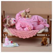 Bebe Tipo Reborn Loira Menina Barata Linda 16 Ítens - Sonho De Criança