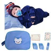 Bebê Tipo Reborn Menino Príncipe Com Acessórios 45cm + Bolsa - Sonho De Criança