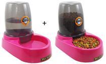 Bebedouro + Comedouro Automático Com Reservatório Bistrô Pet Flex para Cães e Gatos -