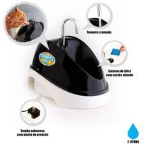 Bebedouro para Caes e Gatos Fonte Eletrica Bivolt 2 Litros Preta  Truqys -
