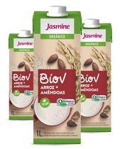 Bebida de Arroz Orgânico com Amendoas Biov  1L (3 unidades) - Jasmine