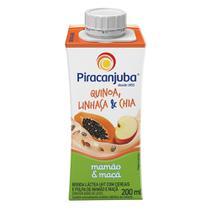 Bebida Láctea Piracanjuba Quinoa, Linhaça e Chia Sabor Mamão e Maçã com 200ml -