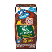 Bebida Láctea Pirakids School Sabor Chocolate 200ml - Piracanjuba