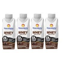 Bebida Láctea Whey Zero Lactose Piracanjuba Cacau 250 ml - Kit 04 Unidades -