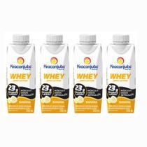 Bebida Láctea Whey Zero Lactose Piracanjuba Sabor Banana 250 ml - Kit 04 Unidades -