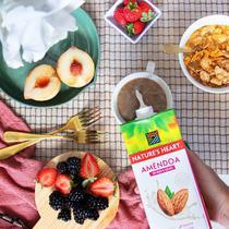 Bebida vegetal de amêndoa sem adição de açúcares 1l - nature's heart -