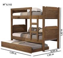 Beliche com cama auxiliar Star - Anyben