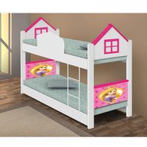 Beliche Infantil Casa Divaloto Branco/Rosa -