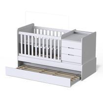 Berço Americano Multifuncional Cleo Branco Acetinado - Carolina Móveis - Carolina Baby