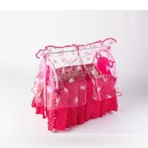 Berço Meu Sonho Rosa Para Boneca - Oliveira Brinquedos -
