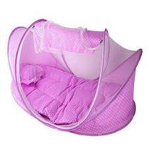 Berço Mosquiteiro Portátil Tenda Mosqueteiro Bebê Rosa - Hpl