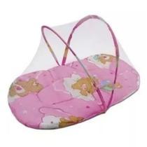 Berço Mosquiteiro Tenda Cercado Portátil Rosa - Little