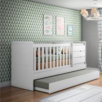 Berço Multifuncional Cléo Carolina Baby Branco Fosco -