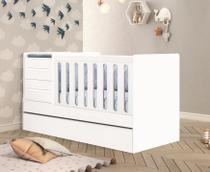 Berço Multifuncional Premium com Cama Auxiliar  100% MDF Planet Baby -