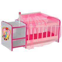 b1f6beb17a56 Berço Para Boneca Cristal Princesas Brinquedo Infantil Criança - Lyam Decor