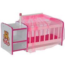Berço Para Boneca Cristal Ursinho Brinquedo Infantil Criança - Lyam Decor -