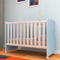 Berço Regulável Suporte Mosquiteiro Arco Íris Rodial Azul/Branco -