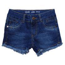 Bermuda Jeans Infantil Menina Shorts Manabana Lindo Oferta  10 a 16 anos - Garota Lua Manabana