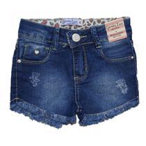 Bermuda Jeans Infantil Menina Shorts Manabana Lindo Oferta  4 6 8 anos - Garota Lua Manabana