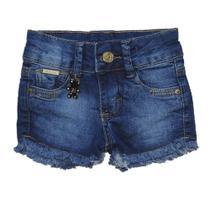 Bermuda Jeans Infantil Menina Shorts Manabana Lindo Verão 1 2 3 anos - Garota Lua Manabana