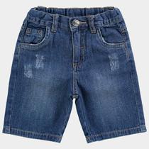 Bermuda Jeans Infantil Milon Bolso Lateral Masculina -