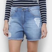 Bermuda Jeans Malwee Boyfriend Feminina -