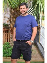 Bermuda Jeans Masculina Plus Size Com Lycra Cambos -