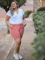 Bermuda Jeans Plus Size Feminino Cambos -