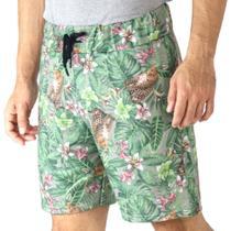 Bermuda Short Moletom Masculino Camuflado Elástico Cordão - Rmc