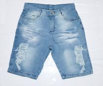 Bermudas Masculina Jeans Destroyed - Arel
