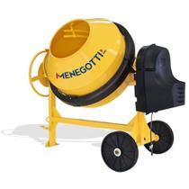 Betoneira 400 litros com motor 2 hp monofásico e kit segurança - Prime - Menegotti -