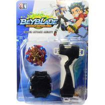 Beyblade Burst: Xeno Xcalibur + Lançador + Grip Suporte - Storm Gyro -