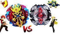 Beyblade Burst Zillion Zeutron vs Xeno Xcalius Zac vs Xhaka - Xtreme Gyro