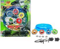 Beyblade Metal Led Kit 4 Pião 2 Lançador Tornado Com Arena - Lianfa Toys