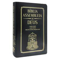 Bíblia Assembleia de Deus Harpa Cristã Preta Capa Igreja - Cpad