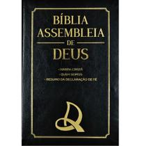 Bíblia assembléia de Deus - Luxo preta capa logo - Cpad