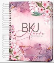 Biblia Bkj Anote Espiral Purple Flower Ebenezer -