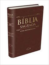 Bíblia com Referências Marrom Alfalit e indice -