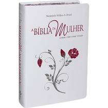 Bíblia da Mulher RA Média Bordas Floridas Tulipa Relevo - Sbb -