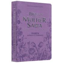 Biblia da Mulher Sábia Flores Lilás - Casa Publicadora Paulista