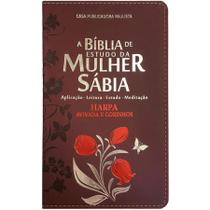 Biblia Da Mulher Sabia Mod 01 Tulipa Bordo - Cpp